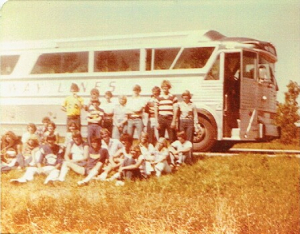 Bus broke down on the way back from Band Camp - August, 1977