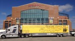 PCMB Semi in front of Lucas Oil Stadium