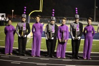 Field Commanders Gina Dossantos, Matt Milanovich, Madison Rosol, Katy Wilmarth, Catherine Christenson, Christian Vacca, and Lauren Garvey accept the trophies at the Clarkston competition. (Photo: Julie O'Connor)