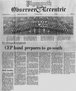 Observer Article - December 26, 1974 - CEP Band Prepares to go South