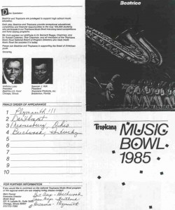 Tropicana Score Card: Results of the Tropicana Bowl on October 12, 1985
