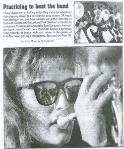 This Free Press article is undated, but it might be from 1984 (Polly graduated in 1986)