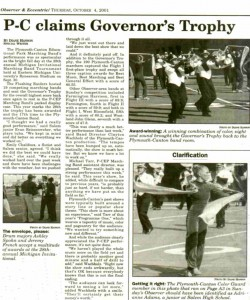 Observer Article (October 4): PCMB wins Governor`s trophy