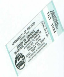 Regionals Ticket