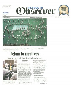Observer Article (November 11): Return to Greatness - Page 1