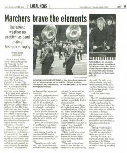 Observer Article (October 21): Marchers Brave the Elements at the rainy, sleety competition at Jenison