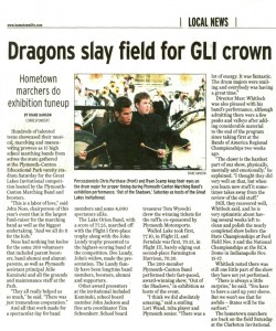 Observer Article (October 18): Coverage of GLI. Lake Orion won Flight I and Walled Lake took Flight II