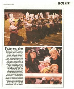 Observer Article (November 1): Putting on a show. Observer article on PCMB Community show in late October.