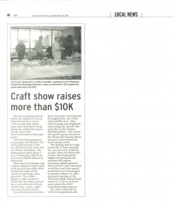 Observer Article (March 18): Covering the PCMB Spring Arts and Crafts Ensemble