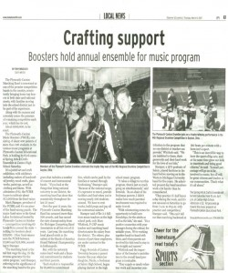 Observer Article (March 8): Publicity for the PCMB Spring Arts and Crafts Ensemble