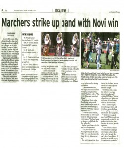 Observer Article (September 20): Marchers strike up band with Novi win