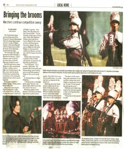 Observer Article (October 25): Bringing the brooms. Marchers continue competition sweep.