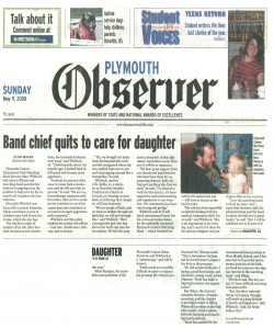 Observer Article (May 11): Mr. Whitlock Steps Down to care for Macaylah