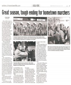 Observer Article (November 19): RECAP of PCMB season and of this year`s Nationals tough finish
