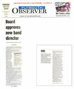 Observer Article - Mr. Armbruster is Joining PCMB