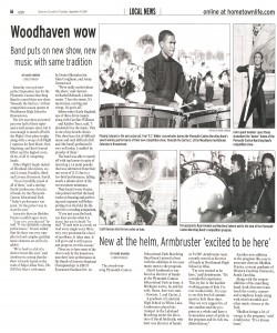 Observer Article (September 23): Band puts on new show, new music, same tradition. This article covers our first performance of the 2009 season.