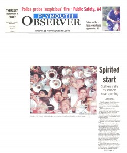 Observer Article (September 3): Spirited Start - Staffers Rally as Schools Near Opening